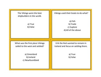 Vikings Task Cards and Activities