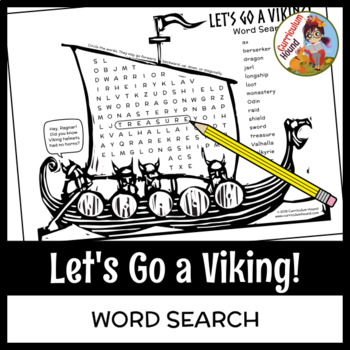 Vikings Word Search - Let's Go a Viking!