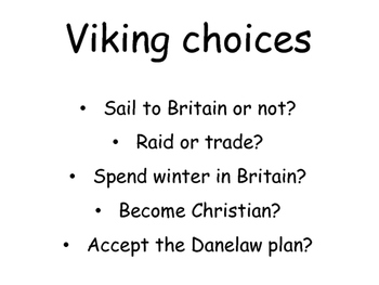 Vikings problem-based / scenario-based Lesson plan and Resources