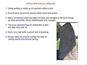Vikings - writing and language flipchart