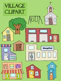 Village Town Clip Art