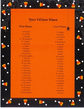Villain Name