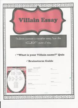 Villain Perspective Narrative Essay