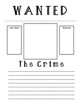villain wanted poster by mrs cassady teachers pay teachers. Black Bedroom Furniture Sets. Home Design Ideas