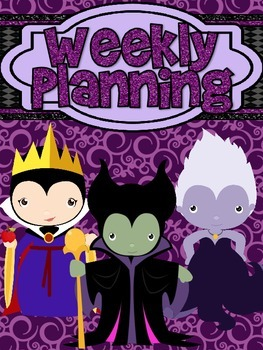 Villain Weekly Planning Notebook