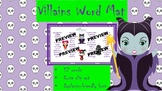 Villains Character Description Word Mat