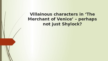 Villains in 'The Merchant of Venice'