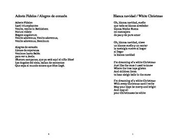 Villancicos 1 - Adeste Fideles  and Blanca Navidad (White Christmas)
