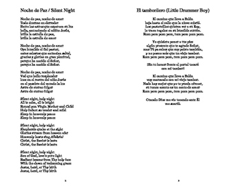 Villancicos 2 - Noche de Paz (Silent Night) y Tamborilero