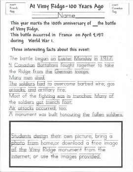 Vimy Ridge 100 Year Anniversary - Special Edition