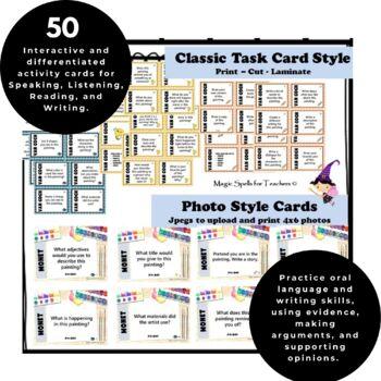 Vincent Van Gogh - Art Task Cards - 50 Card Set