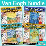 Vincent Van Gogh Art Lesson Bundle: Art Sub Plans, Rubrics, & Reflection Sheets