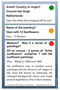 Vincent Van Gogh - Artists of the world enrichment kit - Flashcards pdf download