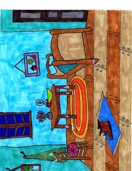 "Vincent Van Gogh ""Bedroom At Arles"" Printable Art Project"