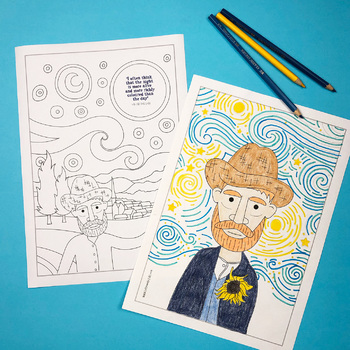 Vincent Van Gogh Colouring Pages (coloring)