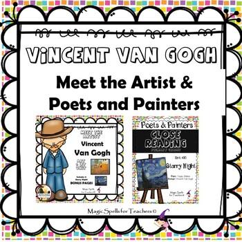 Vincent Van Gogh - CC Close Reading, Poetry & Art Biography Lit Unit Bundled Set