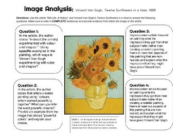 Vincent Van Gogh Image Analysis
