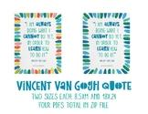 Vincent Van Gogh Inspirational Poster 1