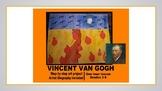 Vincent Van Gogh Kids art project fall pumpkin wheatfield crows activity
