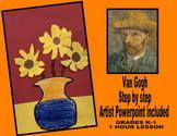 Vincent Van Gogh Kindergarten 1st 2nd art project sunflower activity fall lesson