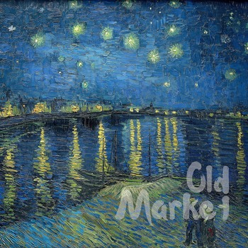 Vincent Van Gogh Paintings Digital Papers - 16 Different Papers - 12x12in