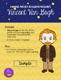 Vincent Van Gogh Reading Passage with Comprehension Questions