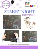 Vincent Van Gogh Starry Night DRAWING Lesson Plan Pack wit