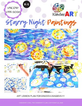 Vincent Van Gogh Starry Night Lesson Plan Pack with Worksheets