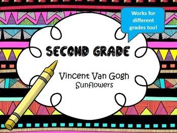 Vincent Van Gogh Sunflowers-2nd Grade