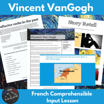 Vincent Van Gogh - comprehensible input lesson for French learners