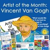 Vincent van Gogh Artist Portrait, Quote, and Handout/Distance learning Lesson