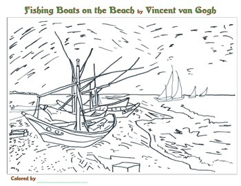 Vincent van Gogh Coloring Pages by Smart Kids Worksheets | TpT