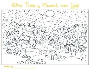 vincent van gogh coloring pages by smart kids worksheets