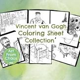 Vincent van Gogh Coloring Sheet Bundle