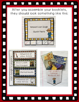 Vincent van Gogh Interactive Foldable Booklets