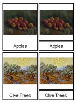 Vincent van Gogh Montessori 3-Part Cards {PreK-2+}