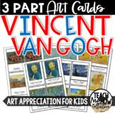 Vincent van Gogh Montessori 3-Part Cards, Vocabulary, Art Education