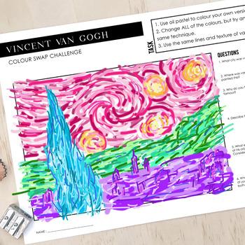 Vincent van Gogh - The Starry Night - Worksheet Art ...