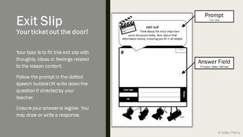 Vine Video Storyboard, Presentation and Exit Slip