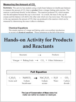 Chemical Equations: Reactants and Products