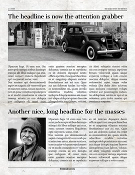 12 Page Newspaper Template Adobe InDesign (8.5x11 inch)