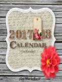 Vintage 2017-18 Calendar