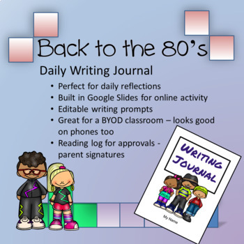 Vintage '80s theme - Daily Writing Journal