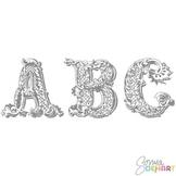 Alphabet - Vintage Clipart