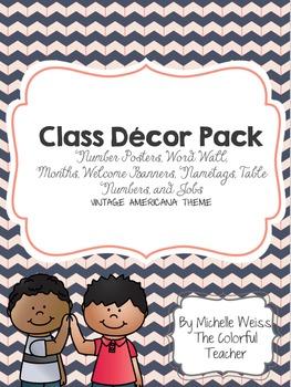Vintage Americana Classroom Decor Pack