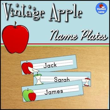 Vintage Apple Desk Name Plates