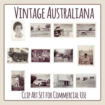 Vintage Australiana / Australian Photos from the 50s and Early 60s Clip Art