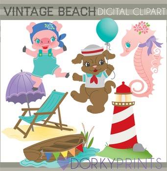 Vintage Beach Clip Art