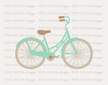 Vintage Bicycle Clipart; Bike, Transportation