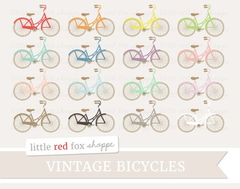 Vintage Bicycle Clipart; Bike